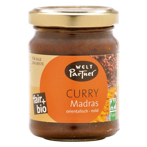 Bio Curry Madras, orient. mild 125g
