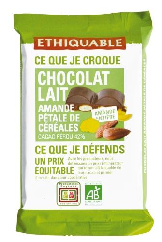 Bio Carré Gourmand Lait Amande 100g