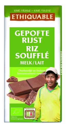Bio Chocolat Lait Riz soufflé 100g