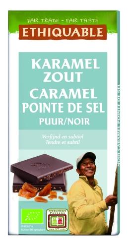 Bio Chocolat Noir Caramel Sel 100g