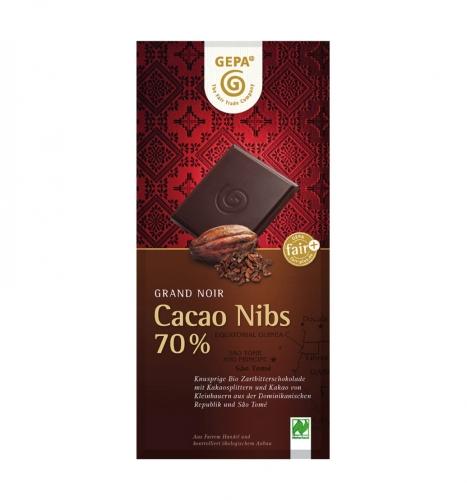 Bio Grand Noir Cacao Nibs 70% 100g