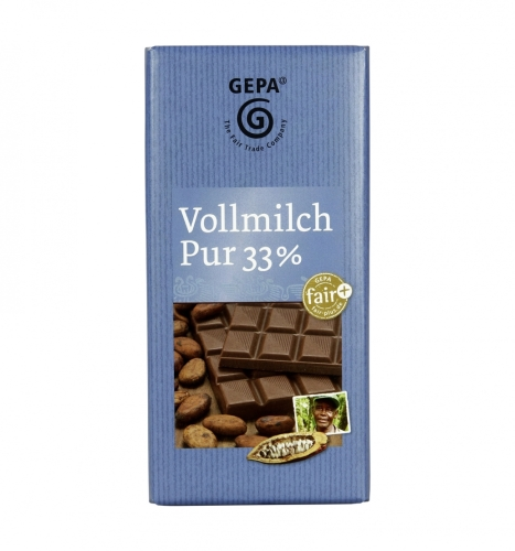 Gepa Vollmilch 33% Cacao 100g