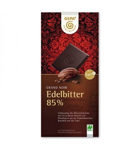 BIO Grand Noir Edelbitter 85% 100g