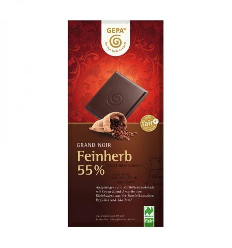 Bio Grand Noir Feinherb 55% 100g
