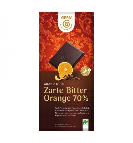 Bio Zarte Bitter Orange 70% 100g