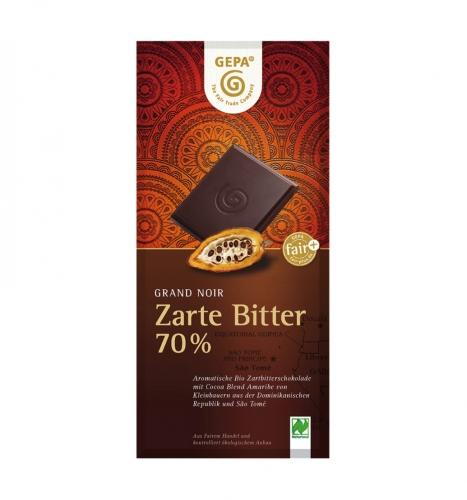 Bio Grand Noir Zarte Bitter 100g
