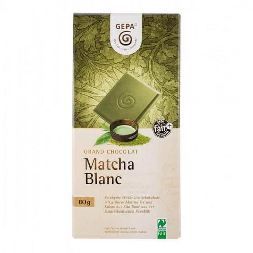 Bio Grand Choc Matcha Blanc 80g
