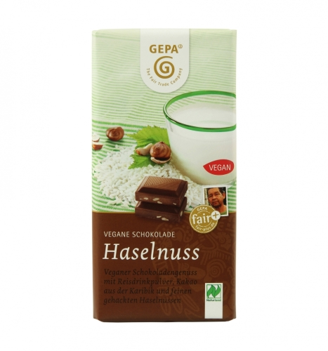 Bio Vegane Schokolade Haselnus 100g