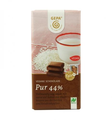 Bio Vegane Schokolade Pur 44% 100g