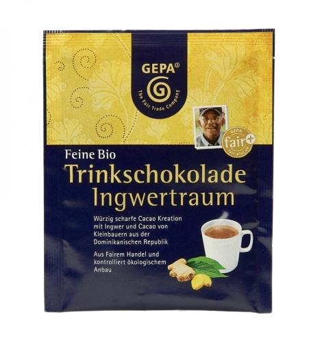 Bio Trinkschokolade Ingwertraum 15g