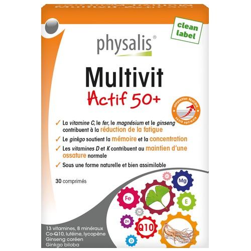 Physalis Multivit Actif 50+ 30comp.