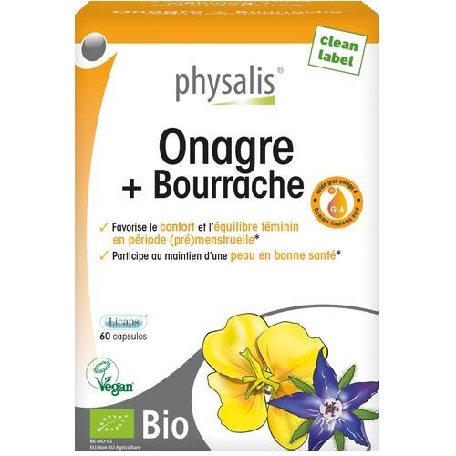 Physalis Onagre + Bourrache 30caps