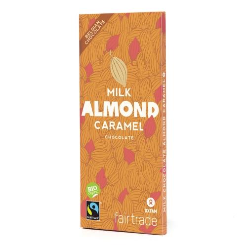 Bio chocolat lait amandes car. 100g
