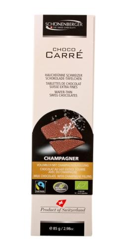 Bio Choco Carré Voll.Champagner 85g